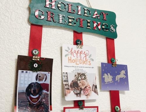 DIY Holiday Card Holder
