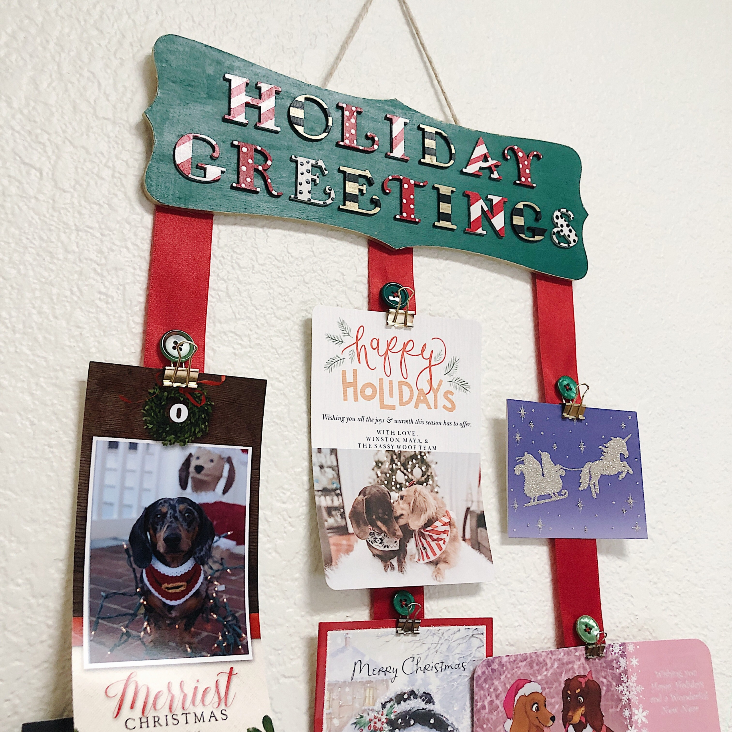 DIY Holiday Card Holder
